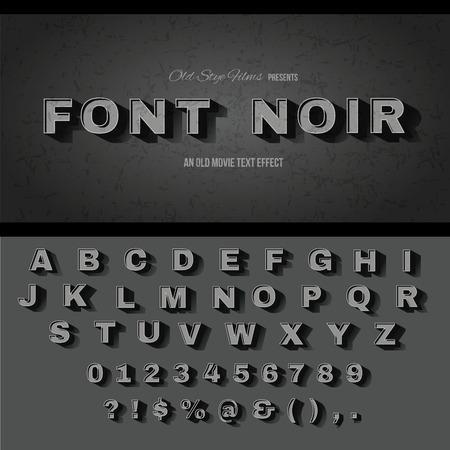 Vintage movie or retro cinema text effect