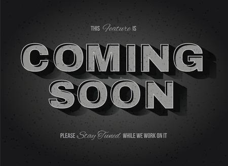 Vintage movie or retro cinema text effect coming soon sign Stock Illustratie