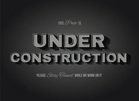 Vintage movie or retro cinema text effect vector under construction sign