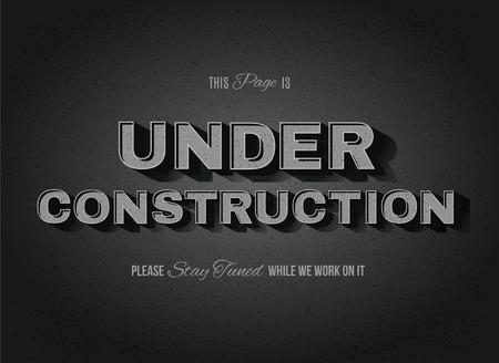 silent: Vintage movie or retro cinema text effect vector under construction sign