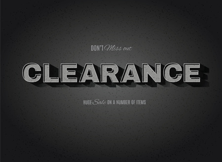 Vintage movie or retro cinema text effect clearance sign Illustration