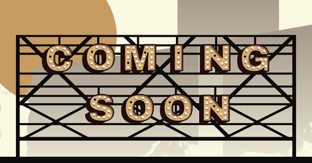 marquee: Vector marquee letter coming soon sign Illustration