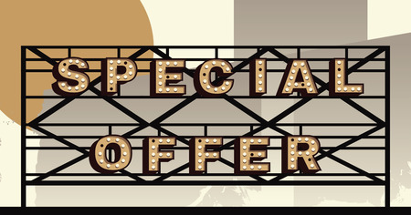 marquee sign: Vector marquee letter Special Offer sign