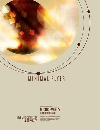 lighting background: Minimial red flyer or poster template design