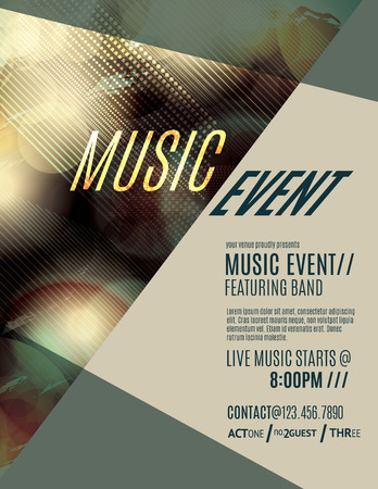Modern and grunge club flyer template