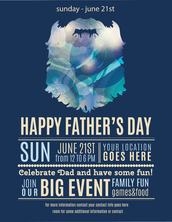 sparkles background: Fun Happy Fathers Day flyer design