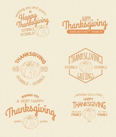 insignias: Retro Vintage Insignias for Thanksgiving