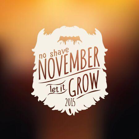 insignia: Insignias vintage retro en el fondo borroso sin apoyo afeitado noviembre