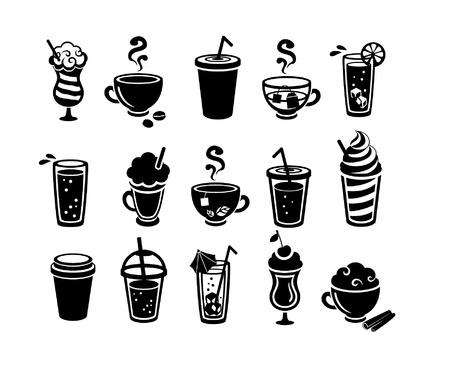 Icônes boissons Banque d'images - 14540747