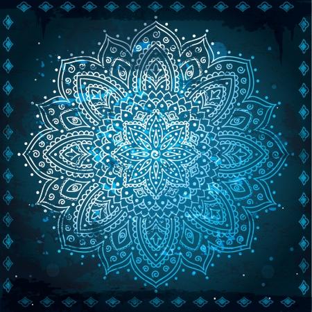 インド: 青いインド飾り  イラスト・ベクター素材