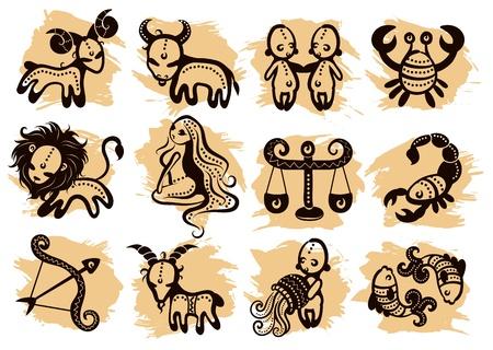 jungfrau: Ethnische Horoskop mit einigen Ornamenten