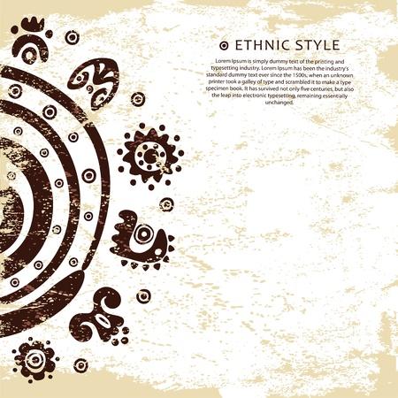 Grunge background ethnique