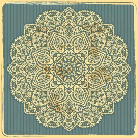 Beautiful Indian ornament Illustration