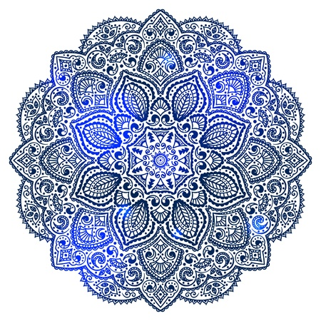 Blue Indian ornament Stock Vector - 16905233