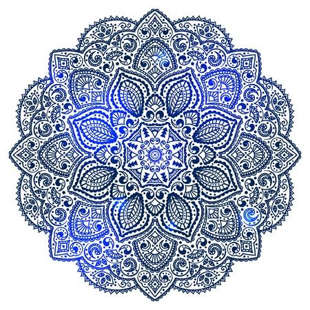 mandala: Blue Indian ornament