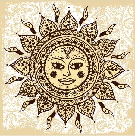 民族の装飾用太陽