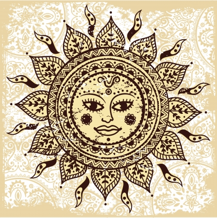 Ethnic ornamental sun Vector