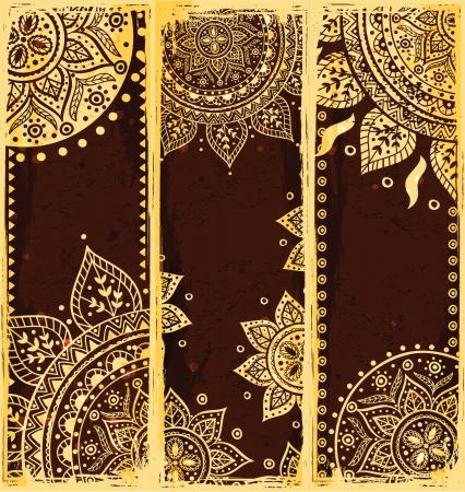 Set of ethnic bookmarks