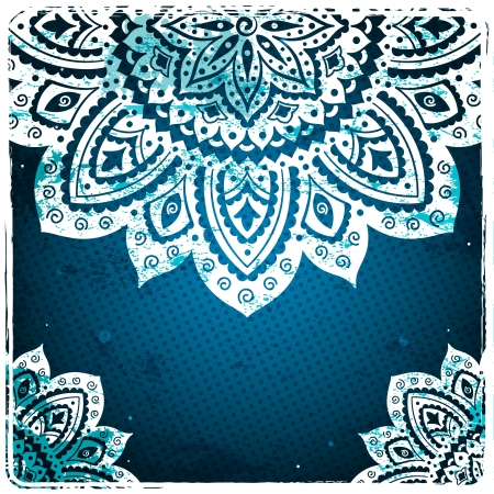 White Indian Ornament Vector