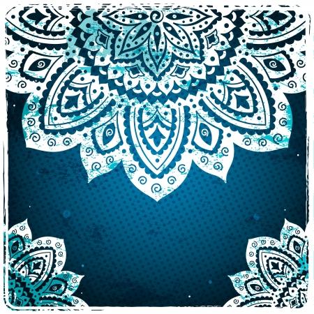 mandala: White Indian Ornament