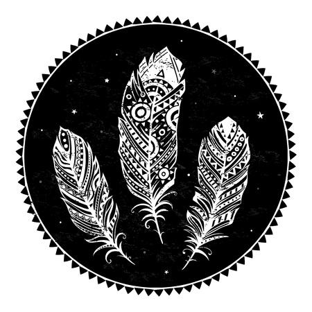 softly: Ethnic ornamental feathers
