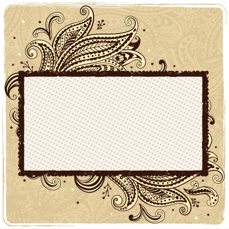 Beautiful vintage  paisley ornamental frame Vector