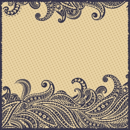 Beautiful elegant paisley ornamental frame Vector