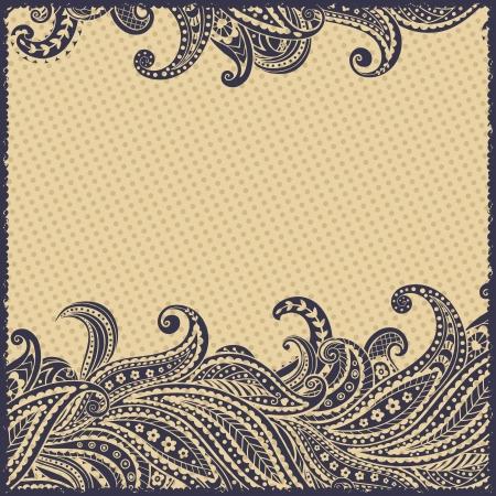 Elegante hermoso marco ornamental paisley Foto de archivo - 17431742