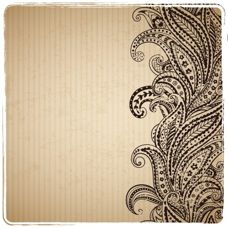 Beautiful vintage paisley ornament Vector