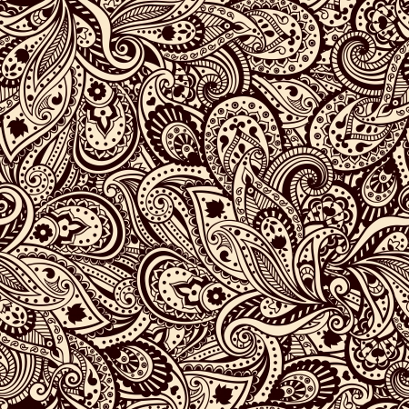 Beautiful paisley pattern photo