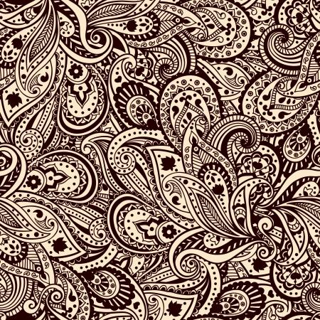 disegno cachemire: Bella paisley pattern Archivio Fotografico