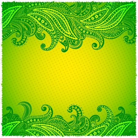 Beautiful green paisley ornamental frame