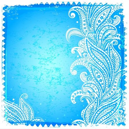 White paisley frame Vector