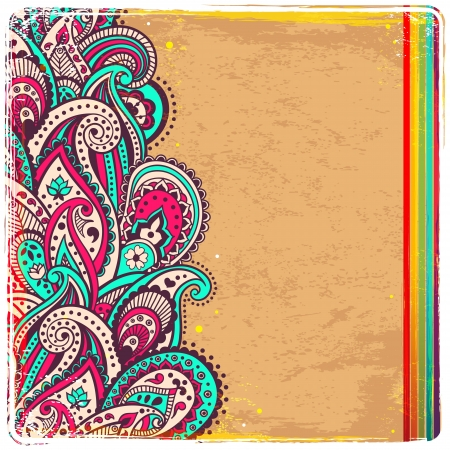 Abstract retro paisley background photo