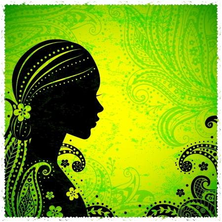 Ragazza indiana con un fiore Archivio Fotografico - 17431732