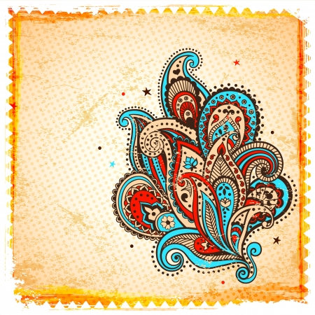 Ethnic paisley ornament Vector