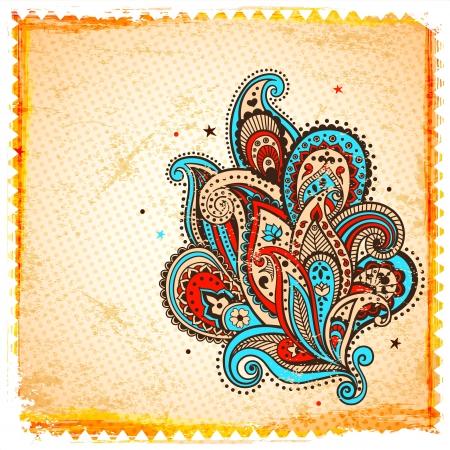 disegno cachemire: Etnico ornamento paisley