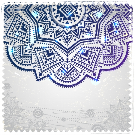 Ethnic ornament on the vintage background Vector