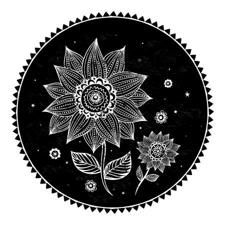 美しいヒマワリの背景  イラスト・ベクター素材