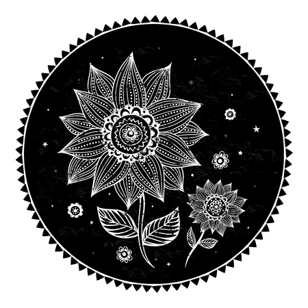 Beautiful sunflower background Ilustração