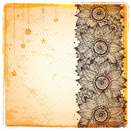 Vintage sunflower background Vector