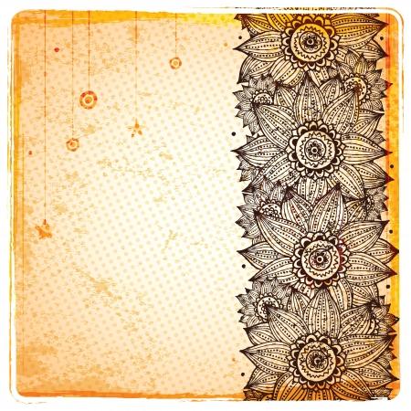 Vintage sunflower background