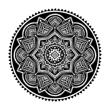Black ethnic ornament Vector