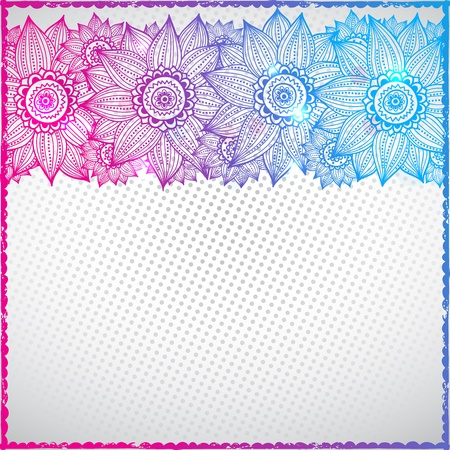 Abstract Color sunflower background