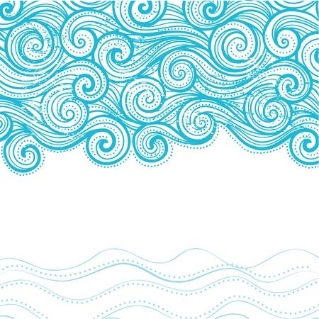 papel tapiz turquesa: Hermoso fondo de la onda