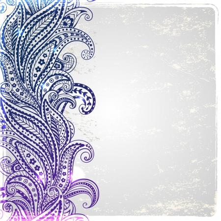 Beautiful paisley ornament Vector