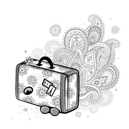 Travel suitcase Stock Vector - 17571155