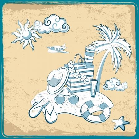 Retro vacation background Vector