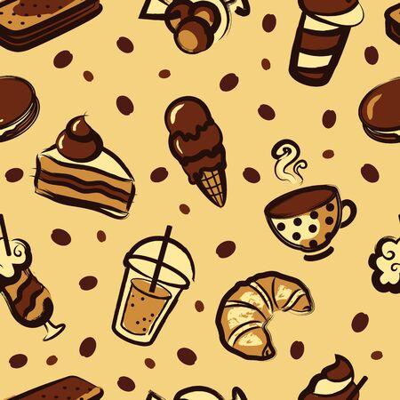 Dessert pattern Vector