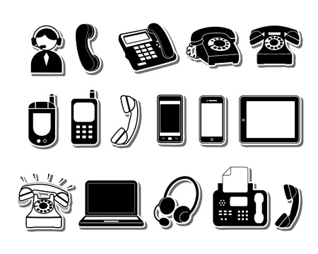 old cell phone: Phone icons Illustration